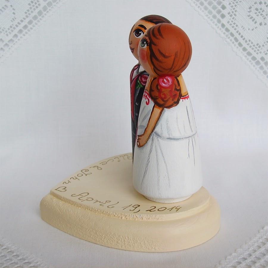 Personalizowane na zamówienie ręcznie malowane zdobione figurki ślubne figurka ozdoba na tort weselny ślubny tortu weselnego dekoracja tortu panna młoda pan młody nowożeńcy