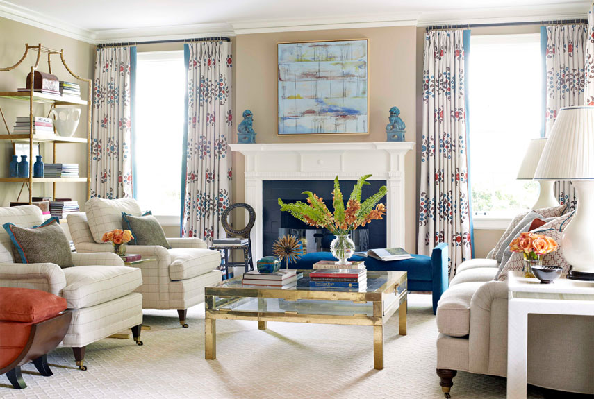 Wife life colorful abode for Modern traditional living room ideas