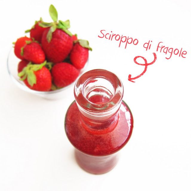 Strawberry Syrup homemade - Sciroppo di fragole fatto in casa