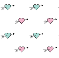 free pink and green heart pattern paper