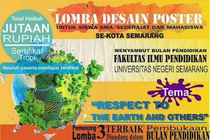 Info Lomba Desain Poster Hari Bumi Unnes
