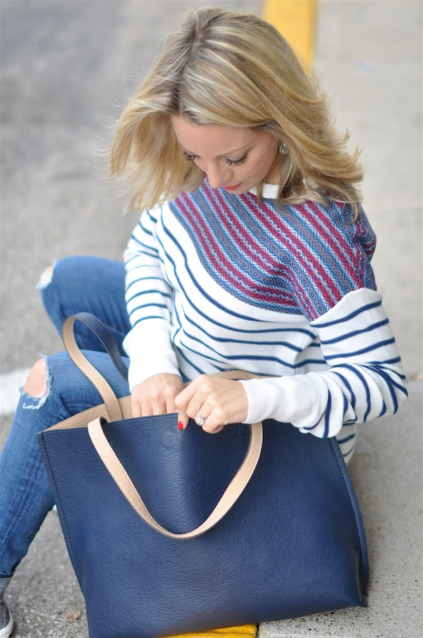 Beautiful lightweight striped sweater.