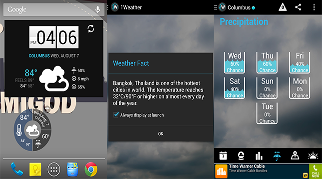 1Weather-Android Weather app