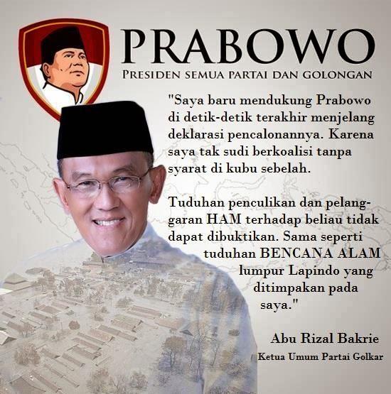 Testimoni ARB tentang Prabowo