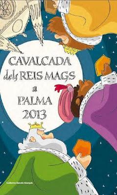 cartel de la cabalgata de los Reyes Magos en Palma de Mallorca