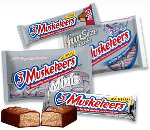 Genial 3 Muskeeters Chocolate Bars