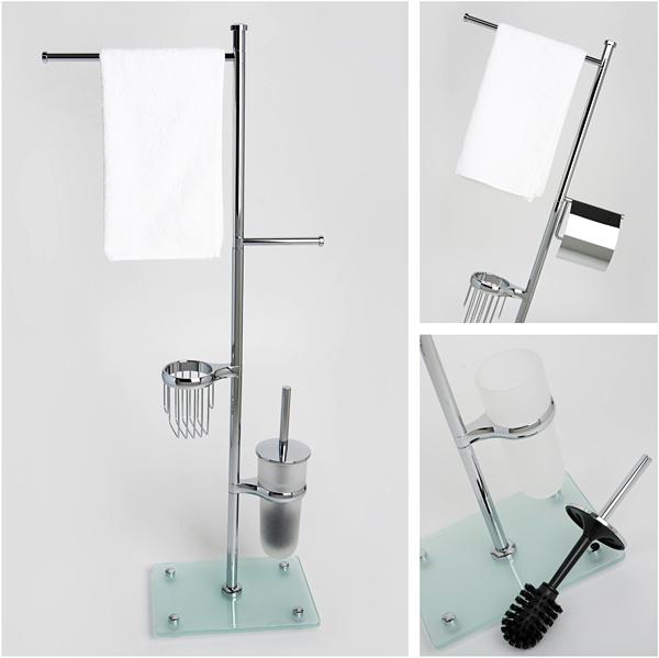 Новинка! Напольные стойки WasserKraft с аксессуарами для ванной комнаты или туалета