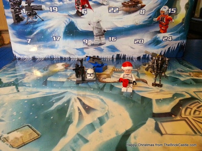 LEGO Star Wars Advent Calendar Day 5 Stormtrooper hat stand and gun rack