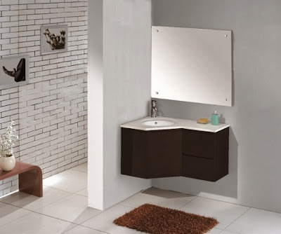 Modern bathroom vanities for corner