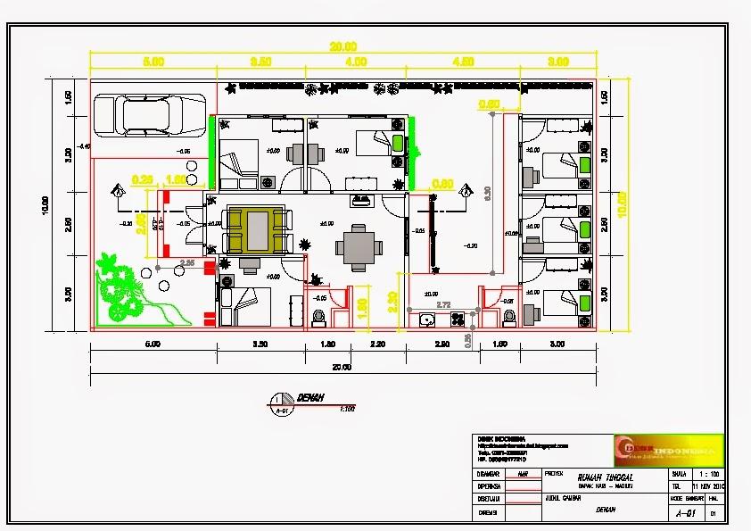 Desain Rumah Minimalis 10 X 20
