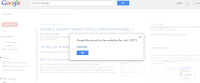 Image of google reader not available anymore