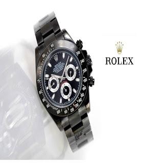 jam tangan keren ROLEX DAYTONA FULL BLACK