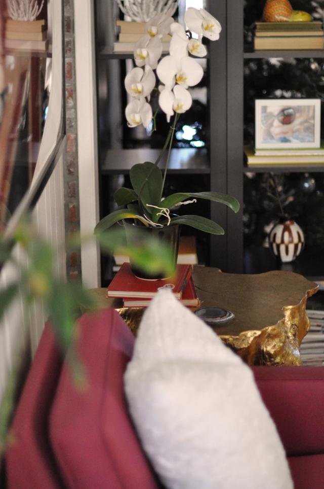white orchids, decor details