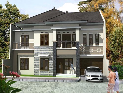 gambar sketsa desain rumah minimalis tipe 45 terbaru 2014