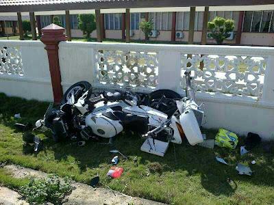 anggota polis kemalangan