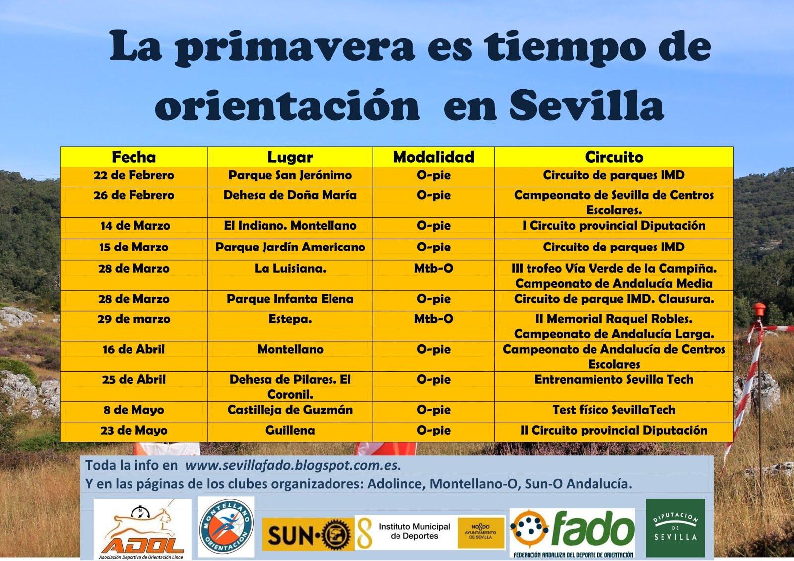 Primavera de orientación en Sevilla