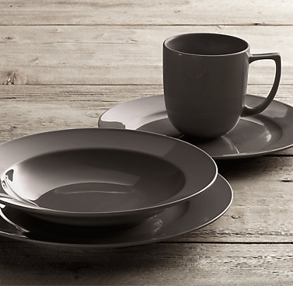 color graphite & Spiral Style: Restoration Hardware Now Offers Tableware
