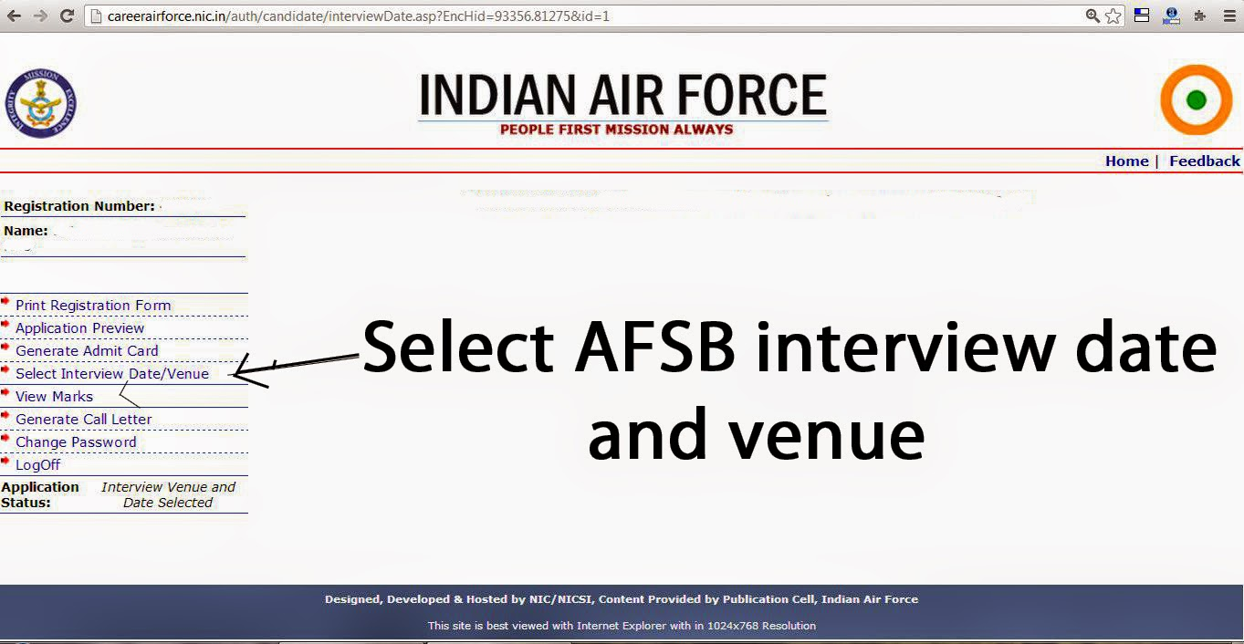 how to highlight the date how to select date and venue of ssb at afsb
