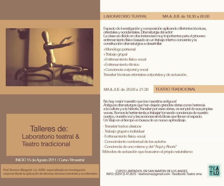 Laboratorio Teatral en SAN MARTIN DE LOS ANDES