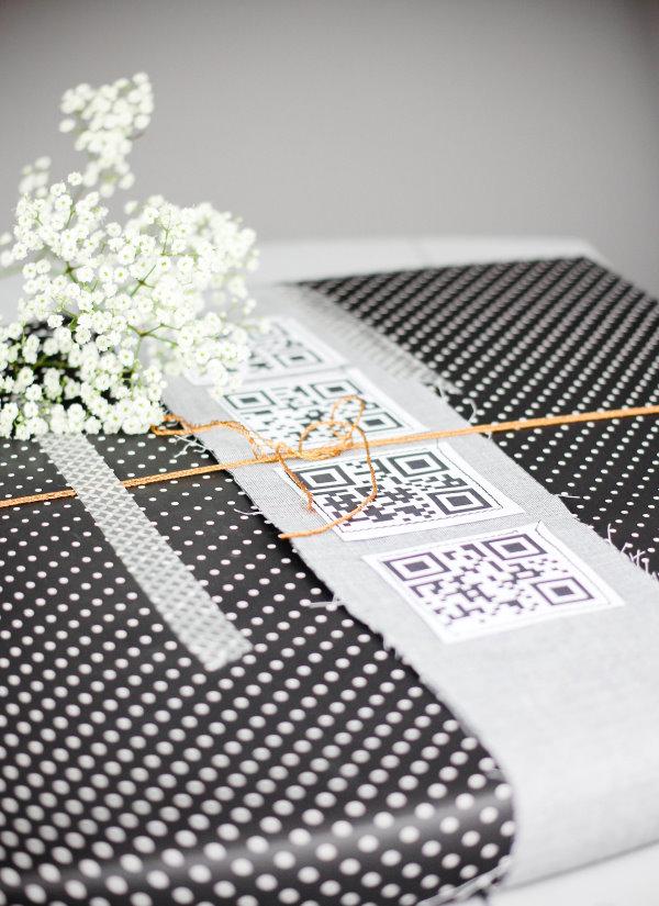 DIY Geschenkverpackung mit QR-Code