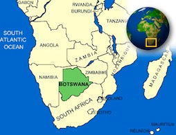 Botswana on the map