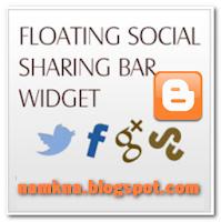 Tiện ích Social Sharing trượt cho blogspot