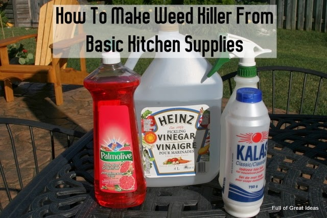 How To Make Weed Killer From Basic Kitchen Supplies