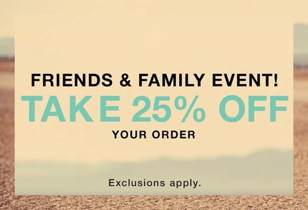 shopbop friends and family event