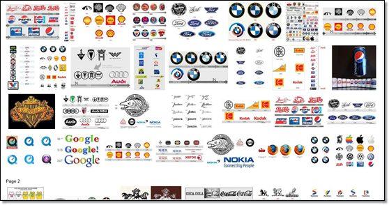 évolution des logos
