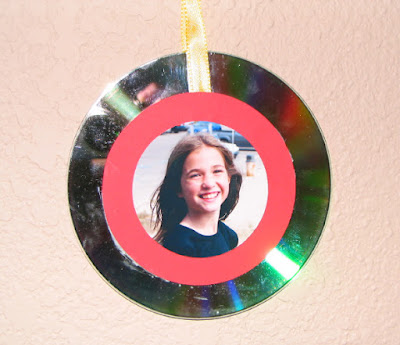 Personalized photo cd ornament 1