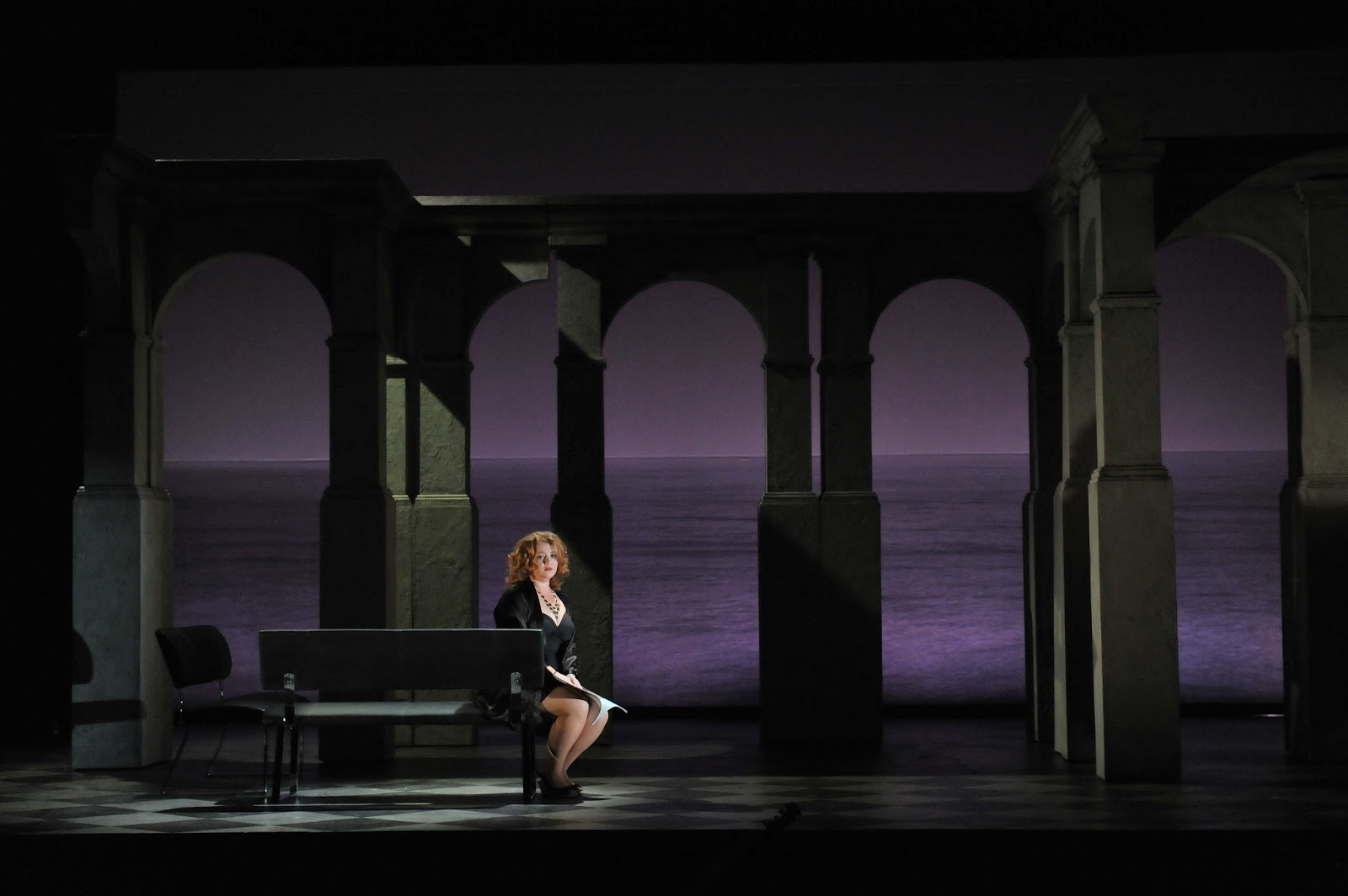Hannah Sandison as Rosemene in Paul Curran's production of Handel's Imeneo at the London Handel Festival, 2013. Photo credit Chris Christodoulou