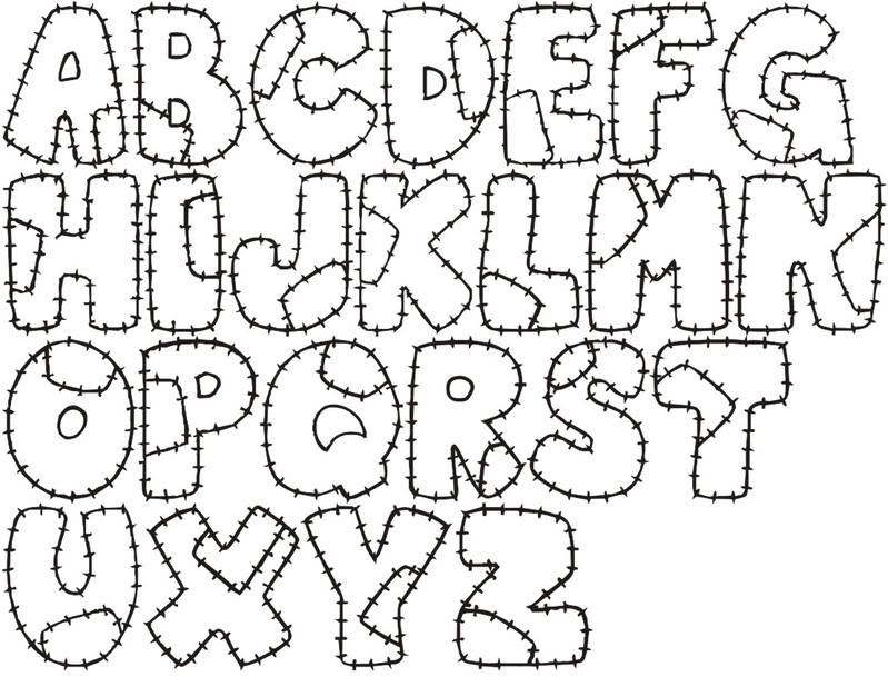 Alguns modelos de Letras para confecção do Painel do Alfabeto