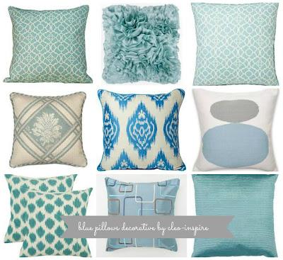 poduszki niebieskie