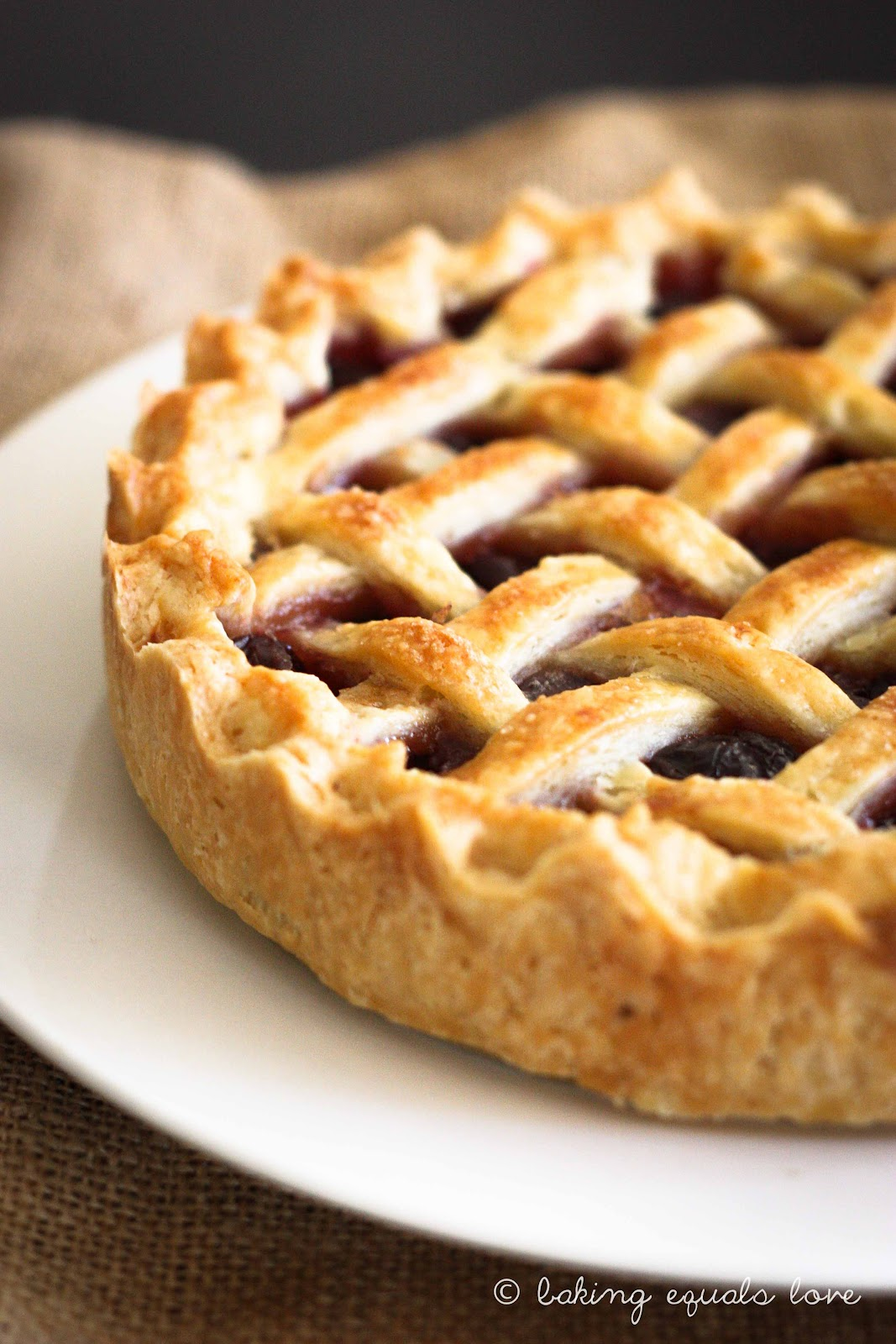 This Sweet Cherry Pie , whilst gorgeous and delicious, really has ...