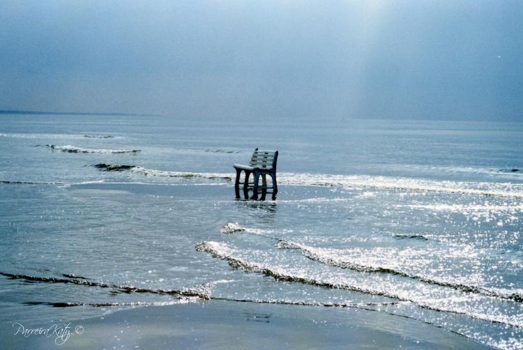 obiettivo click la panchina in riva al mare