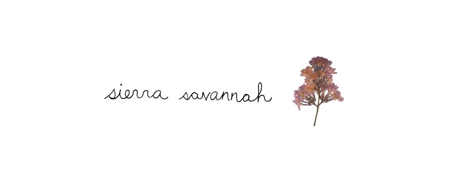sierra savannah - a fashion, photography, craft and life blog