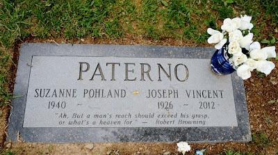 Joe Paterno gravestone grave marker