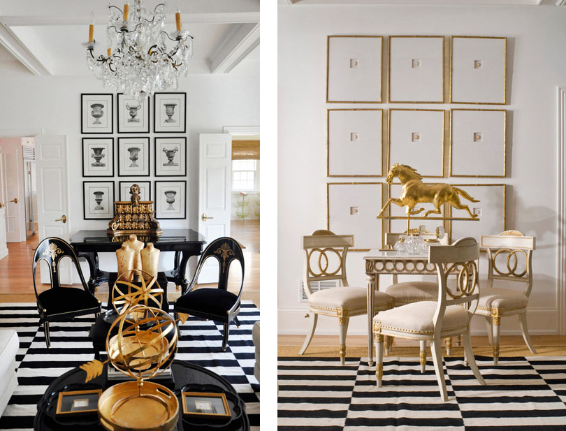 The together project living dining area - Black and gold living room decor ...