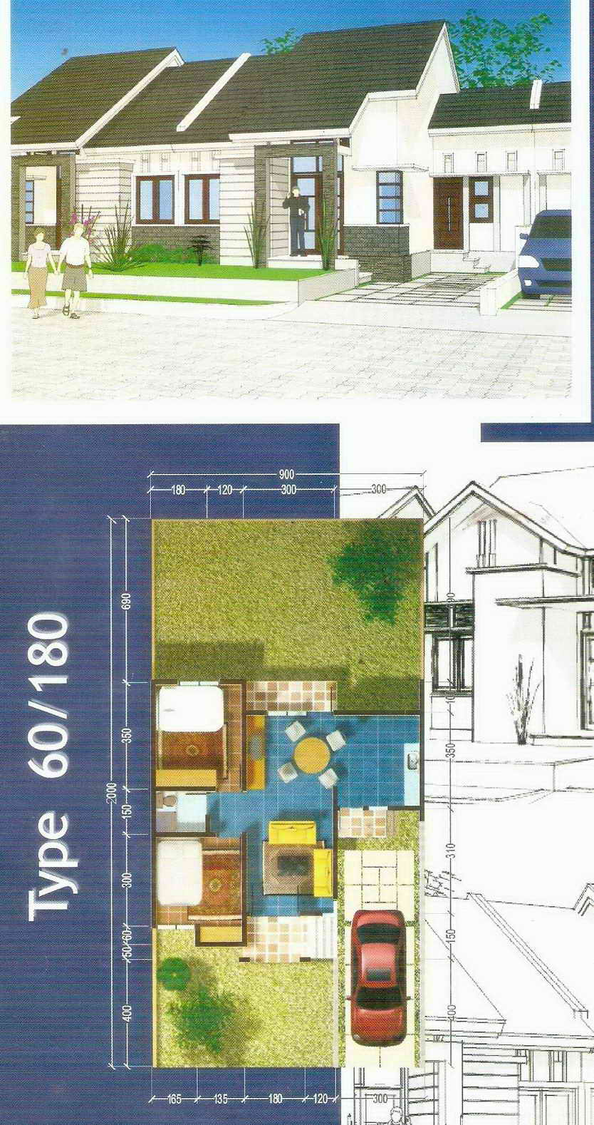 Contoh Rumah Minimalis Perumahan Pesona Mahakam Samarinda Type 60 180