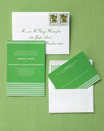 Invitaciones boda verdes