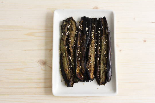 side dish recipe aubergine green matcha