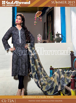 Gul Ahmed, Printed Suits, New Summer Clothes 2015.