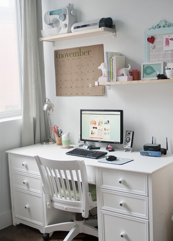 The classy woman design inspiration craft rooms for Small office area