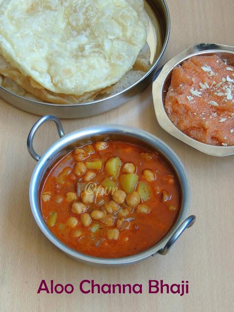 Aloo channa bhaji, potato chickpeas curry