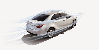 الشكل الخارجى الانسيابى لسيارة تويوتا كورولا 2015 الجديدة