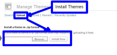upload wp themes image
