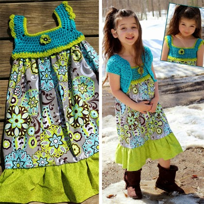 Awesome crochet dress for little girls