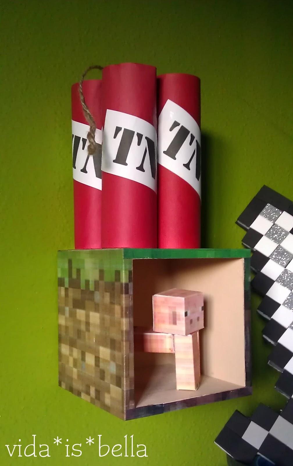 Minecraft Grass Block Shelf