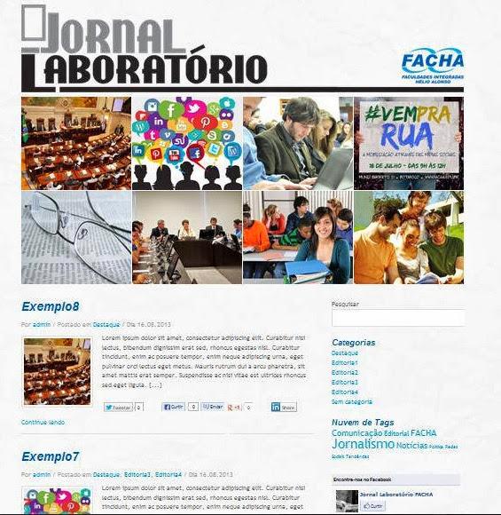 Blog do Jornal Laboratório FACHA