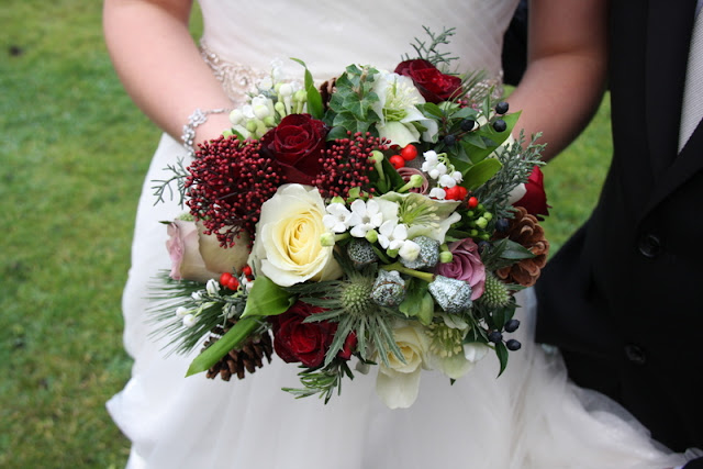 A Sneaky Peek at the Rustic Christmas Wedding Day of Sarah Brendon at The